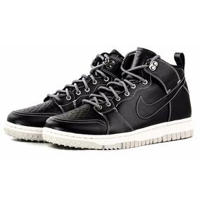 Botas Nike Dunk Negras Cmft Wb Cuero Importadas!!