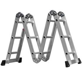 Escada Alumínio Articulada 12 Degraus 10 Posições Alustep
