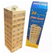 Jenga Madera 54 Piezas Juego Educativo Yenga / Lhua Store