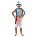 Fantasia Cosplay Príncipe Aladdin Disney Bermuda Infantil