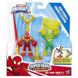 Playskool Heroes Iron Spider Y Marvels Electro