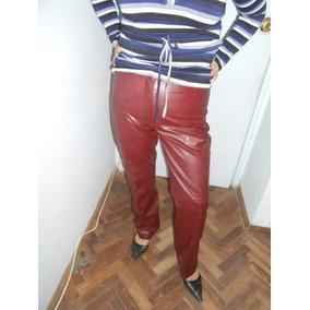 Pantalon Cuerina Terracota Talle 44 La Calesa Impecable