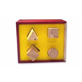 Caja De Encaje De Figuras Geométricas De Madera, Didactico