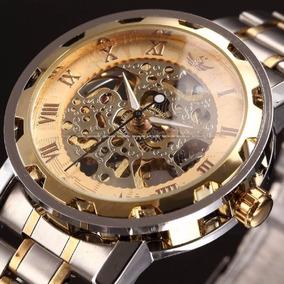 Relojes Para Hombre Sewor Original Skeleto Mecanico
