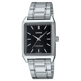 Relógio Casio Masculino Mtp-v007d 1eudf Prata Quadrado