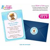 Convite Chá De Bebê - 10cm X7cm - 50 Undades