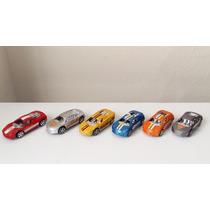 6 Carrinhos Super Car Turbo Vários Modelos Fricção