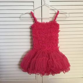Lindo Tutú Vestido Rosa Fucsia Talla 6 Niña
