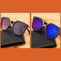 Óculos Mulheres Olho De Gato Frete + Case + Flanela