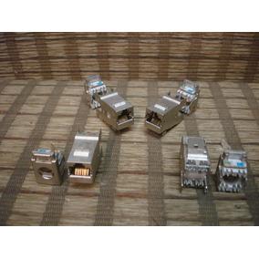 Rj 45 Femea Em Metal Conector Kit Com 05 Peças