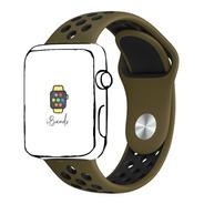 Pulseira Furos Oliva Militar Preto Apple Watch 42mm 44mm Sm