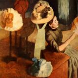 Loja De Chapéu Variedades Compras Pintor Degas Tela Repro