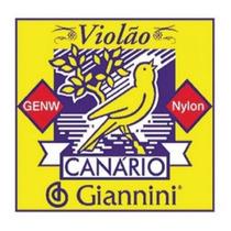 Encordoamento Corda Para Violão Genw Canário Nylon Médio