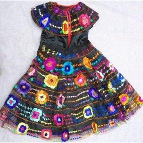 Chiapas Vestido 5 Olanes T/5 Vs Baile Regionale Gratis Envio
