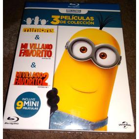 Mi Villano Favorito 1, 2 Y Minions Boxset 3 Películas Bluray