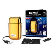 Maquina De Barbear Recarregável Metal Kemei Km Tx1 Gold