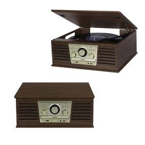 Radio Retro Vintage Bluetooth Cd Toca Discos Vinil Fm Usb