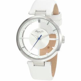 Reloj Kenneth Cole New York Dama Piel Blanco