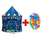 Carpa Castillo Infantil Para Niños + 50 Pelotas De Colores
