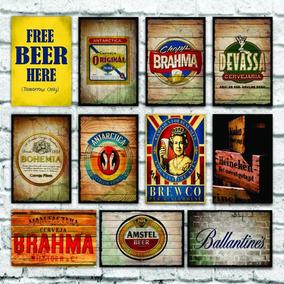 Placas Decorativas Mdf Bebidas Cervejas Bar 20x30cm