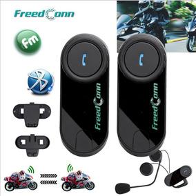 Par De Intercomunicadores Bluetooth Casco Moto Lcd Radio Fm
