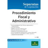 Separata De Procedimiento Fiscal Y Administrativo - Errepar