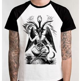 Camiseta Raglan Bafomé Simbolo Camisa Blusa Baphomet Satanás