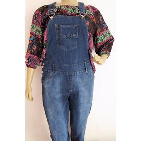 Jardineira Jeans Plus Suze