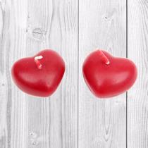Velas Mini Corazón Flotantes Recuerdos Bodas Xv Años Fiesta