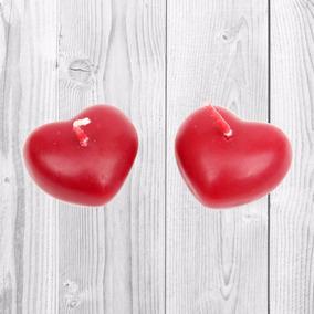 4 Velas Mini Corazón Flotantes Recuerdos Bodasxv Años Fiesta