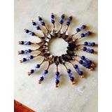 10 Plaitos 10 Col 1 Faca De Bolo Dourado C/ Azul