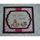 Invitacion Baby Shower Animalprint