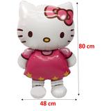 Globo Hello Kitty Metalizado Cumpleaños Niña Mayor Detal