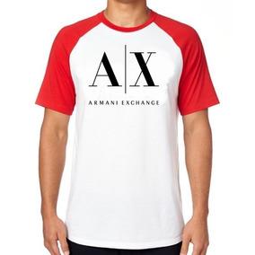 Camiseta Camisa Blusa Raglan Tamanho Armani Jeans Exchange