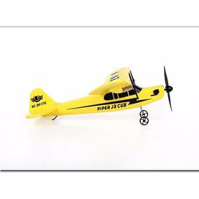 Avião De Controle Remoto Piper J3 Cub Hl803 Fx-803 36cm