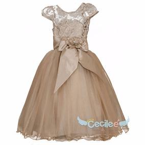 Hermoso Vestido Fiesta Niña De Lujo Exclusivo 077