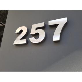 Numeros Para Casas Metalex C/espesor En Polyfan Gris 2cm