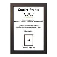 Moldura A4 Certificado/diploma Tela Acrílico 12 Unidades