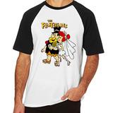 Camiseta Flinstones Fred Vilma Blusas Manga Curta Tamanho