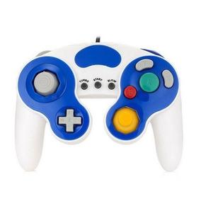 Controle Clássico Nintendo Wii Game Cube Wii U Branco + Azul