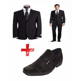Terno Slim Oxford + Sapato Verniz Lançamento Masculino ***