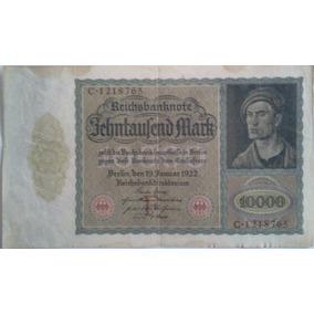 Billete 10.000 Marcos Alemanes 1922 - Para Coleccionistas