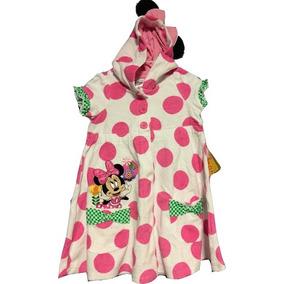 Bata Toalla Con Lunares De Minnie Talle 2 Disney Usa