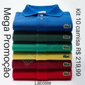 Kit 05 Camisa Gola Polo Lacoste Masculina - Frete Grátis