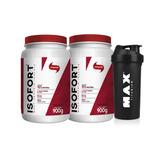 2x Isofort Whey Protein Isolada 900g (1800g) Vitafor + Brind