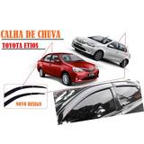 Calha Defletor Chuva Toyota Etios Hatch Sedan (novo Design)