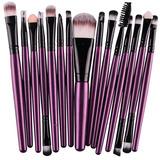 Set 15 Brochas Profesional Maquillaje Sombras