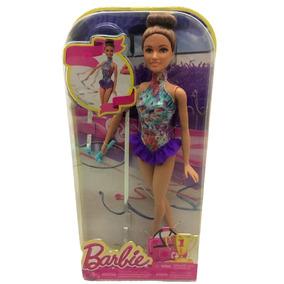 Boneca Barbie Ginasta Rítmica Articulada Morena - Mattel