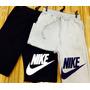 Calça Moletom Nike Shorts Moletom Nike Kit 3 Peças