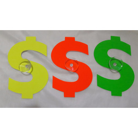 Signo Pesos Venta Pvc Reutilizable Con Chupon Para Vidrio